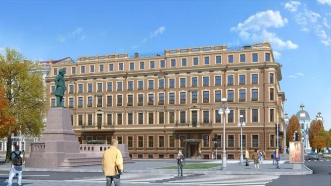 Гостиничный комплекс на ул. Глинки © Архитектурная мастерская Цыцина