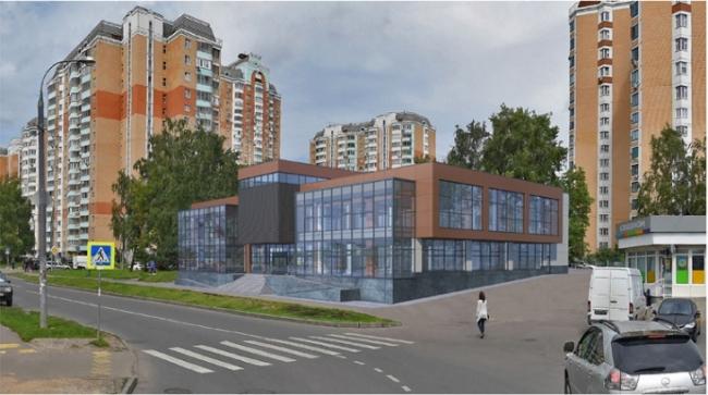 Торгово-развлекательный центр в Солнцево © «АрхСофтПроект». Предоставлено пресс-службой «Москомархитектура»