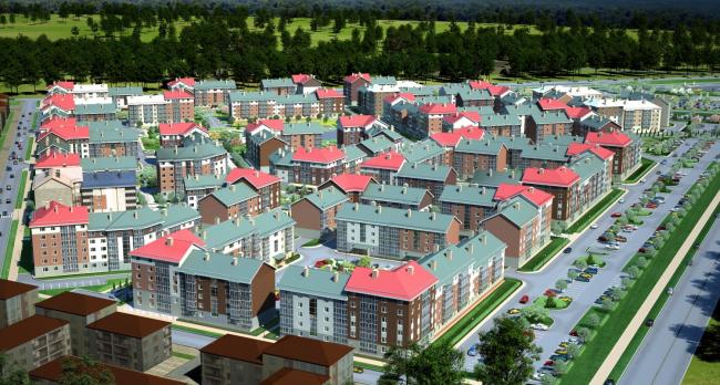 Жилой район «Славянка» – квартал 8  © Архитектурная мастерская Цыцина