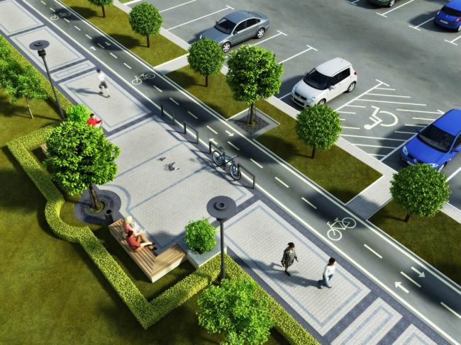 Жилой район «Славянка» – кварталы 1,7 © Архитектурная мастерская Цыцина