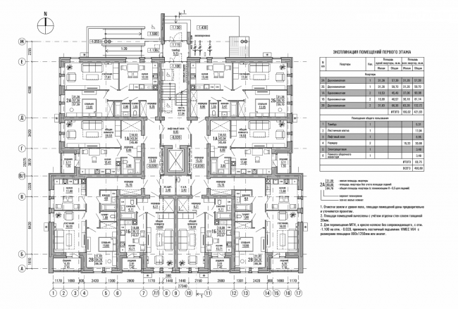 Резиденция Горки. План 1 этажа © sp architect