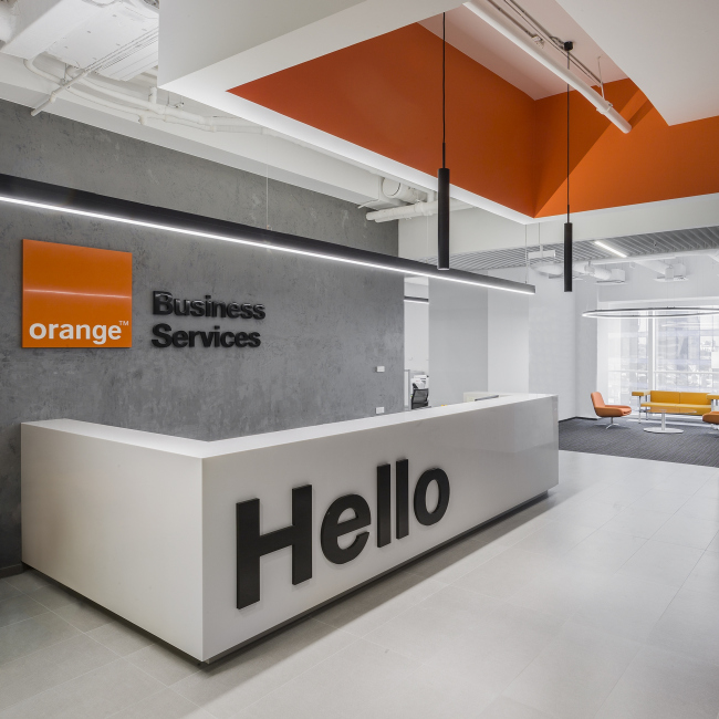 Офис Orange Business Services в башне «Меркурий». Реализация, 2016 © T+T Architects