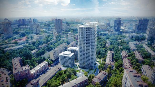 «Знаковый сад» – зеленая зона ЖК Signature © Dmytro Aranchii Architects