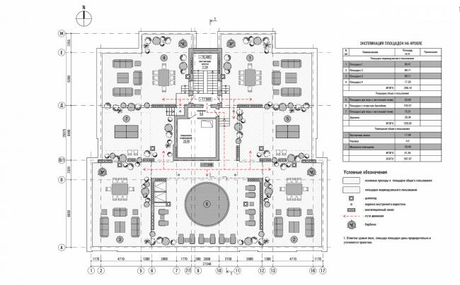 Резиденция Горки. План эксплуатируемой кровли © sp architects
