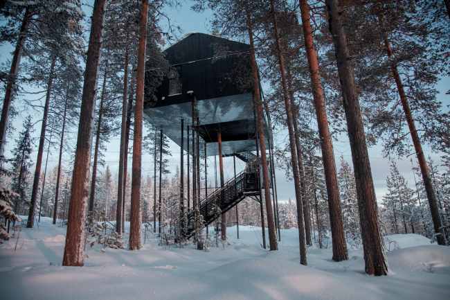 Вилла The 7th room в гостинице Treehotel © Johan Jansson