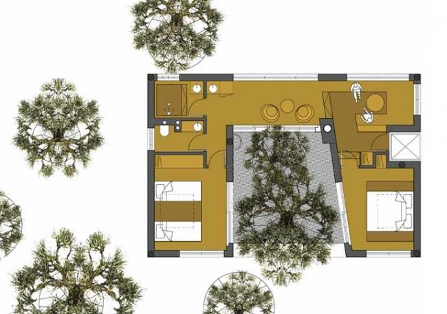 Вилла The 7th room в гостинице Treehotel. Изображение с сайта treehotel.se