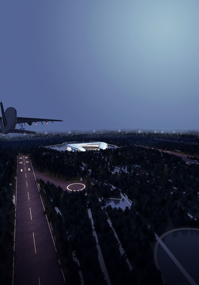 Проект Airport under the forest park. Авторы: Xingqiao Li, Fang Yu, Que Wang. Изображение © Fentress Global Challenge