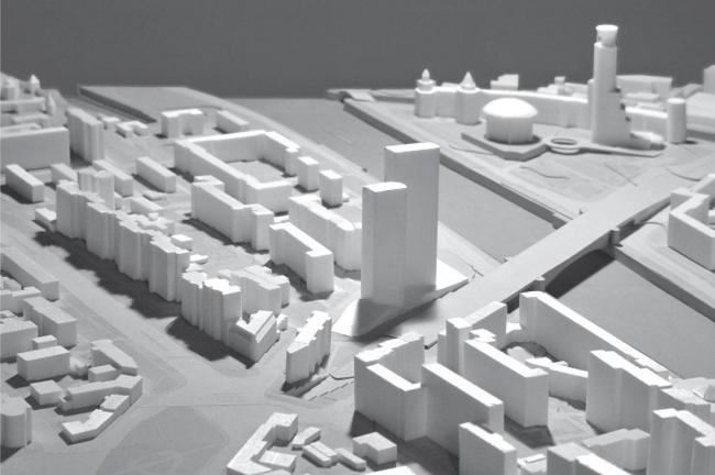 Многофункциональный комплекс с апартамент-отелем на Таганке. Макет © Сергей Скуратов ARCHITECTS