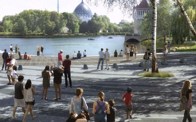 Ландшафтный парк на ВДНХ. Изображение предоставлено пресс-службой «Москомархитектуры»