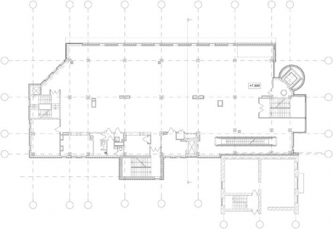 ТЦ Чкалов. План 3-го этажа © Архстрой