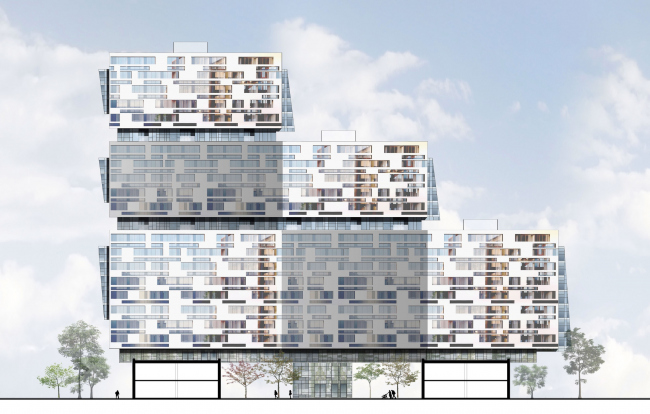 Жилой комплекс на Симоновской набережной. Фасад. Проект, 2016
