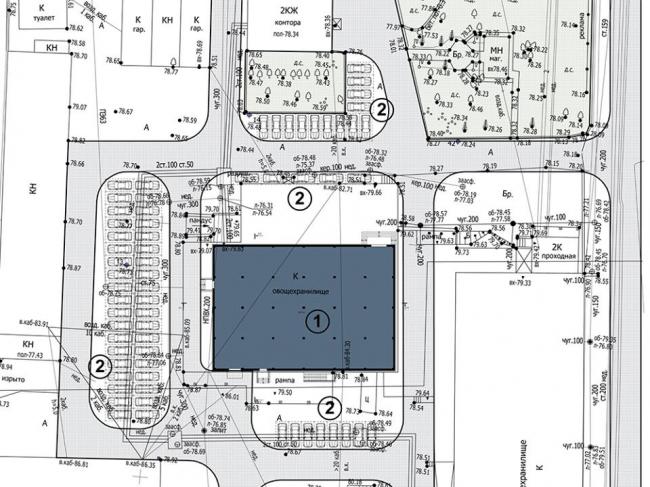 Реконструкция здания склада под здание бизнес – центра на ул. Базовый проезд © СС Проект