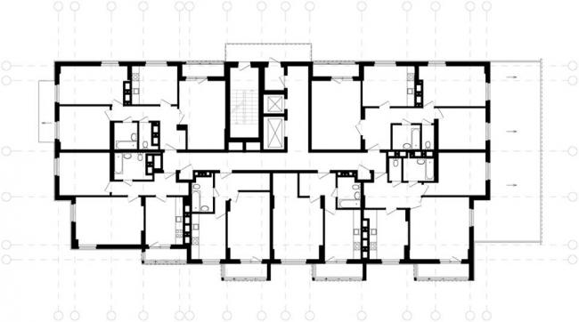 Жилой дом на пр. Кораблестроителей © Архитекторы: А. Худин, Е. Полякова, при участии Е. Зотовой