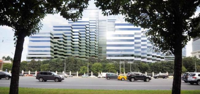 Многофункциональный жилой комплекс на Кутузовском проспекте © Kengo Kuma & Associates. Предоставлено пресс-службой «Москомархитектуры»