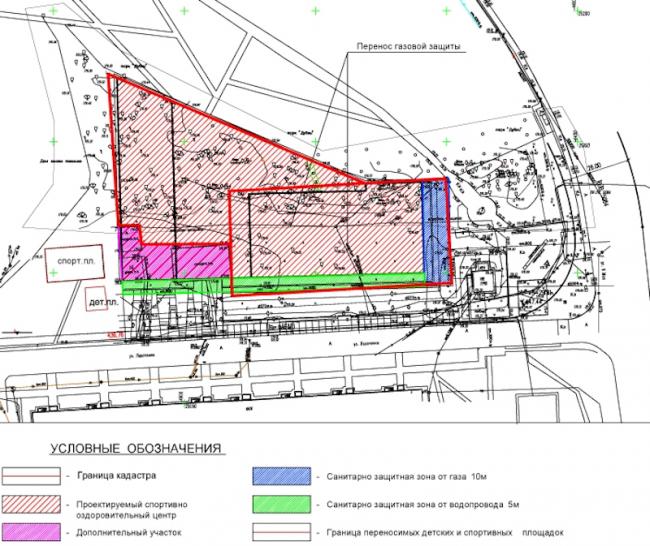 Спортивно-оздоровительный комплекс в Химках. Генеральный план. Проект, 2016 © Архитектуриум