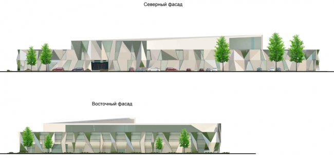 Спортивно-оздоровительный комплекс в Химках. Фасады. Проект, 2016 © Архитектуриум