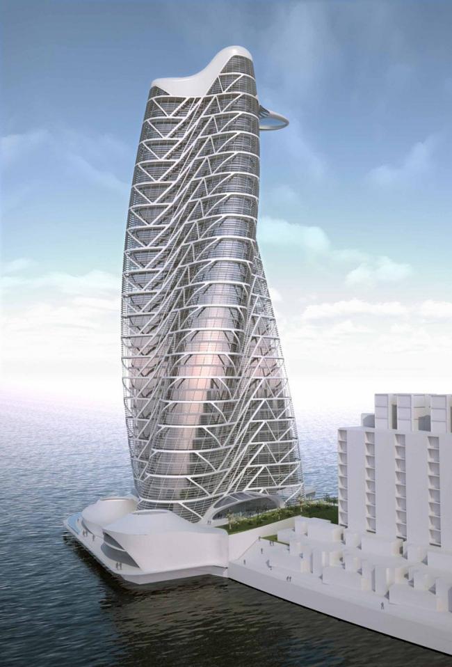 Башня Strata © Asymptote