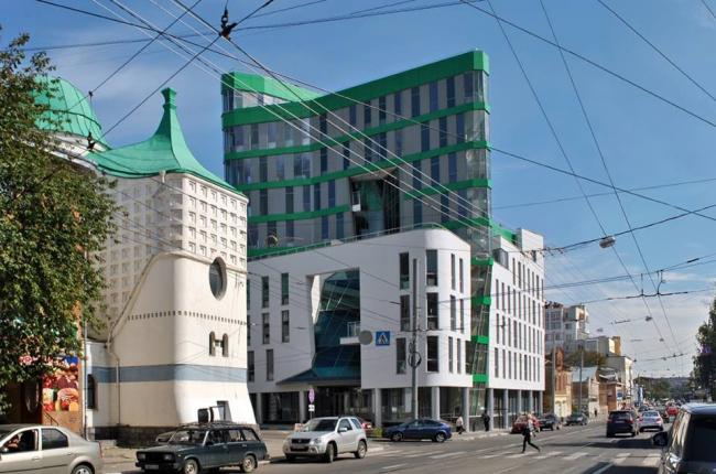 Административное здание с подземной автостоянкой на пересечении улиц Фрунзе – Б. Печерской