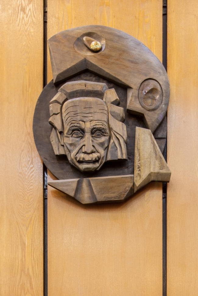 Портретная галерея библиотеки. Эйнштейн. 2017 г. Фото © Денис Есаков