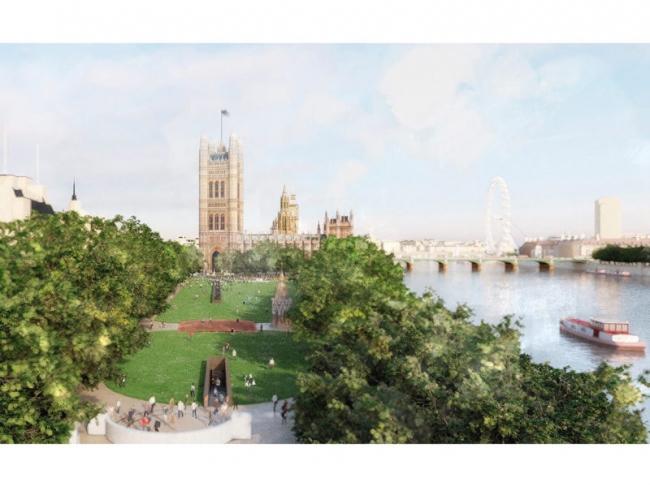 Конкурсный проект Мемориала Холокоста в Лондоне © MRC, Foster + Partners