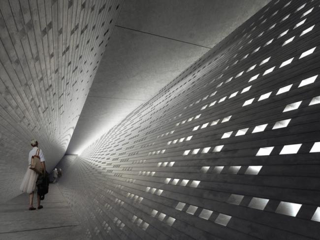Конкурсный проект Мемориала Холокоста в Лондоне © MRC, Heneghan Peng Architects
