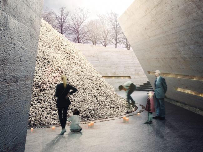 Конкурсный проект Мемориала Холокоста в Лондоне © MRC, John McAslan + Partners