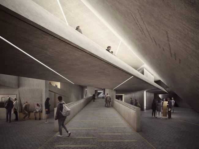 Конкурсный проект Мемориала Холокоста в Лондоне © MRC, Studio Libeskind