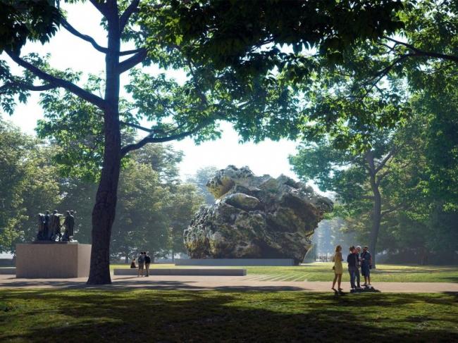Конкурсный проект Мемориала Холокоста в Лондоне © MRC, Zaha Hadid Architects