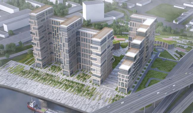 Многофункциональный жилой комплекс на территории завода «Филикровля». Проект, 2015 © SPEECH