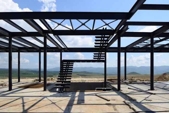 A winery in Haykadzor (Armenia). Construction, 2013. Kleinewelt Architekten. Photo © I. Ivanov