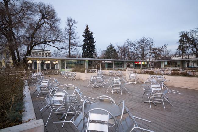 A pavilion at VDNKh, Construction, 2014. Kleinewelt Architekten. Photo © A. Belov