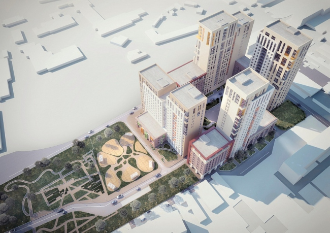Многоквартирный жилой комплекс «Берзарино». Проект, 2016 © Архитектурная мастерская «ГРАН»