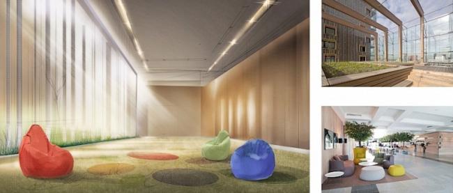 Проект детского хосписа. Интерьеры. 2013 © Архитектурная мастерская «ГРАН»