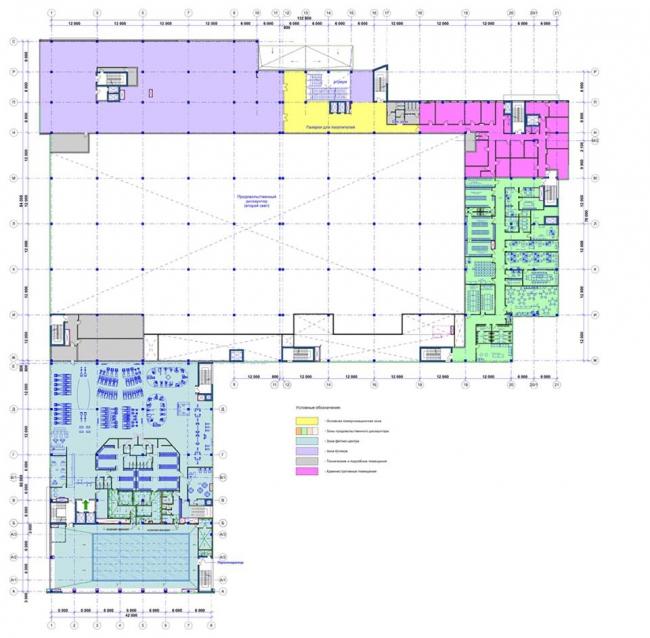 Торгово-развлекательный центр «Крым». План 2-го этажа © СС Проект