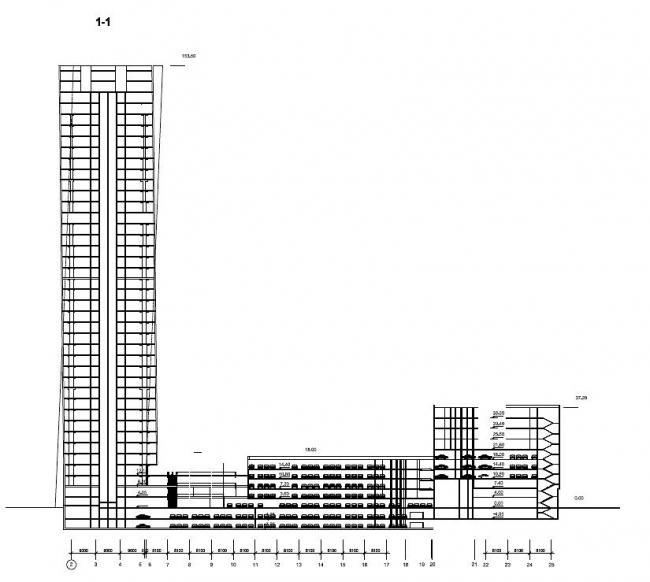 Многофункциональный административный комплекс, 1-ый Красногвардейский пр-д, 12 © ABD architects