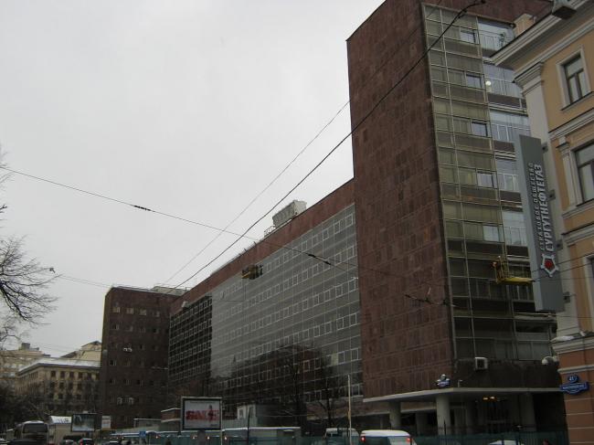 Вид на здание Центросоюза со стороны Мясницкой улицы. Лицензия: CC BY-SA 3.0. Автор: Акутагава