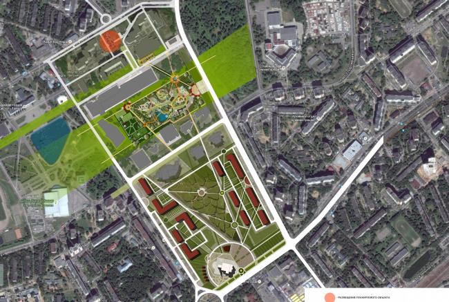 ЦТП в Одинцово. Генеральный план © Архстройдизайн