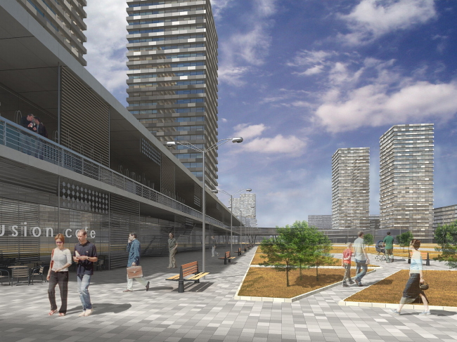 Contest project of architectural concept on development of Minskaya street, Moscow