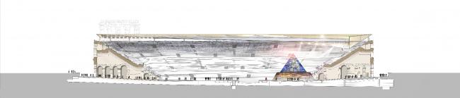 Арена-ди-Верона в разрезе © gmp Architekten