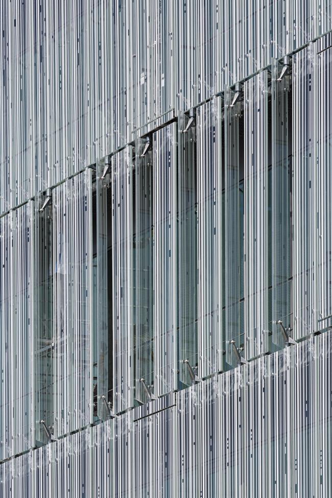 Штаб-квартира банка Crédit Mutuel de Loire-Atlantique Centre-Ouest в ходе строительства © Guillaume Satre