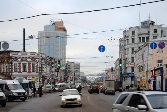 Бизнес-центр «ESQUIRE» в панораме города © Архстрой