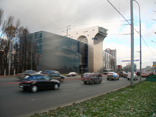 Офисное здание на Можайском шоссе. Вариант 2008 года (второй вариант)
