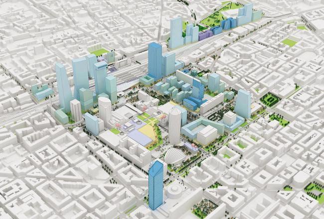 План трансформации Пар-Дьё 2010-2030 © AUC