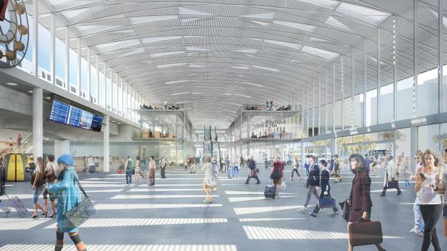 Проект реконструкции вокзала Пар-Дьё. Новый вестибюль © Arep