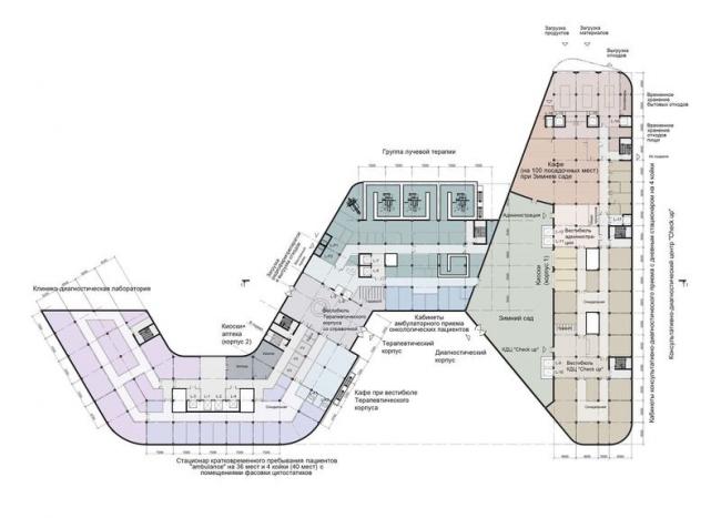 Международный медицинский кластер в Сколково. Блок первой очереди © Архитектурное бюро Асадова