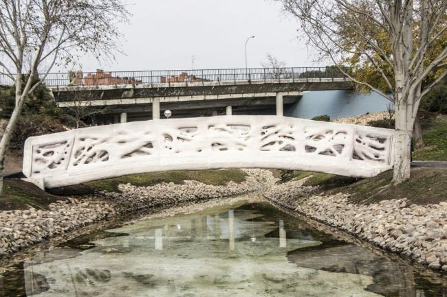 Напечатанный мост в городском парке Кастилья-Ла-Манча. Фото: IAAC