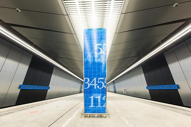 Вестибюль станции метро «Ломоносовский проспект». Проектировщик: «Метрогипротранс». Фотография предоставлена компанией «АСП-Технолоджи»