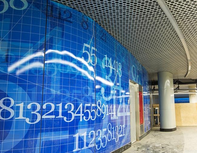 У станции «Ломоносовский проспект» два подземных вестибюля. Проектировщик: «Метрогипротранс». Фотография предоставлена компанией «АСП-Технолоджи»