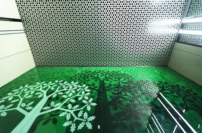 Станция «Раменки». Потолочные перфорированные алюминиевые панели PERFATEN 3D Perfo Puzzle. Проектировщик: «Метрогипротранс». Фотография предоставлена компанией «АСП-Технолоджи»