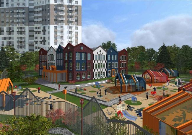 Детский сад в Лефортово © Региональный центр Урбанистики. Предоставлено пресс-службой «Москомархитектуры»